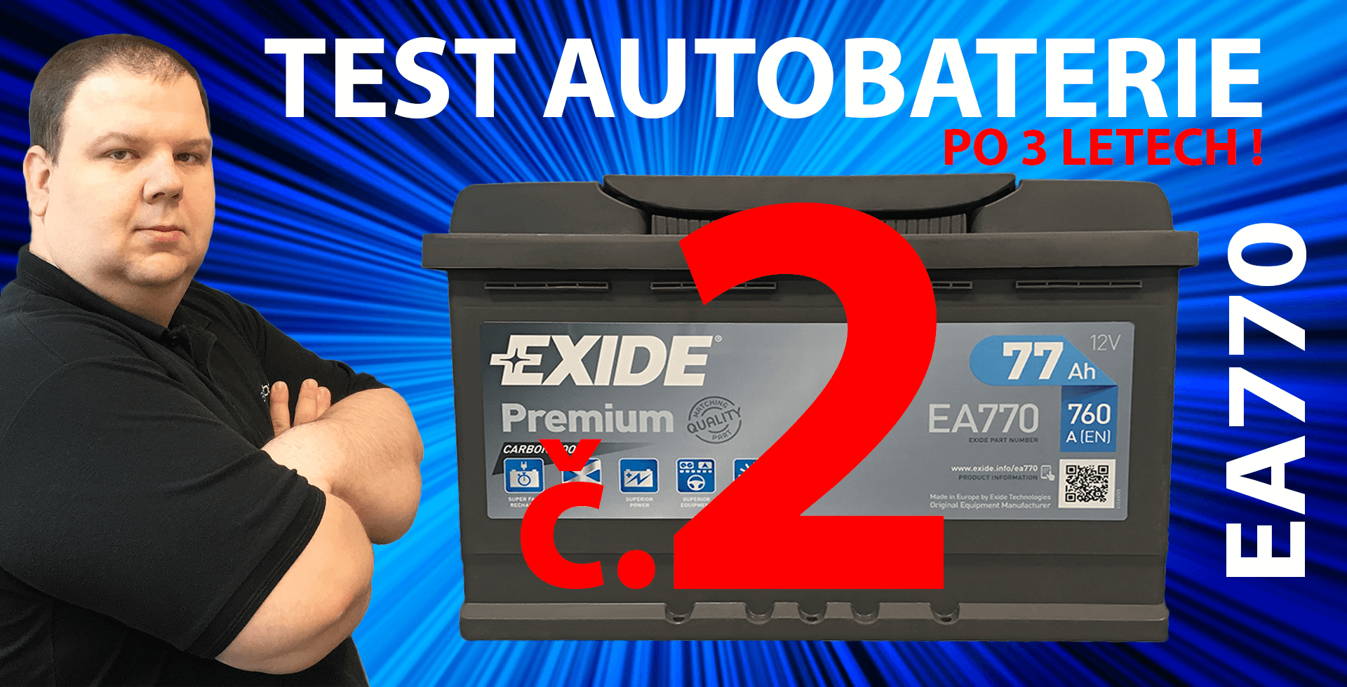 VIDEO - Test autobaterie EXIDE Premium EA770 #2