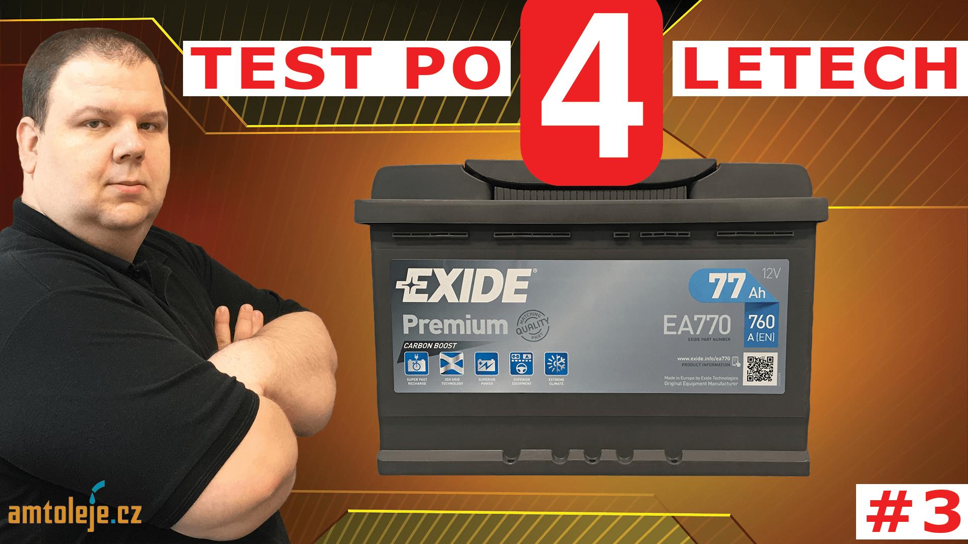 VIDEO - Test autobaterie EXIDE Premium EA770 po 4 letech