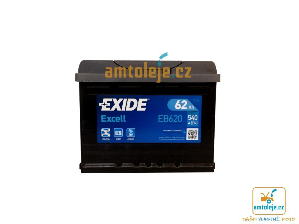 EXIDE Excell 62Ah 540A EB620 (Autobaterie EXIDE)