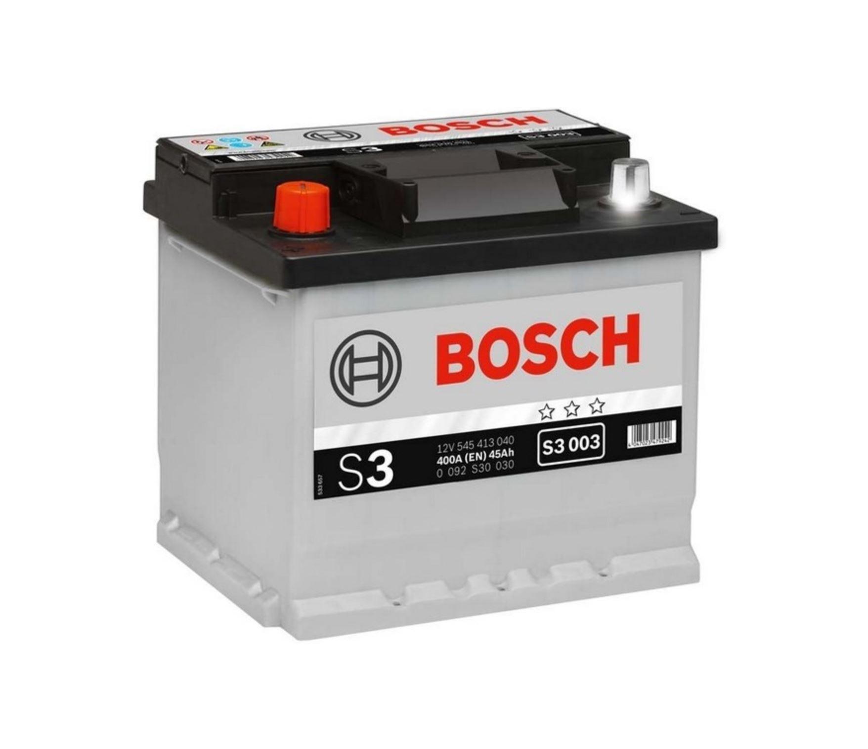 Bosch S3 12V 45Ah 400A 0 092 S30 030