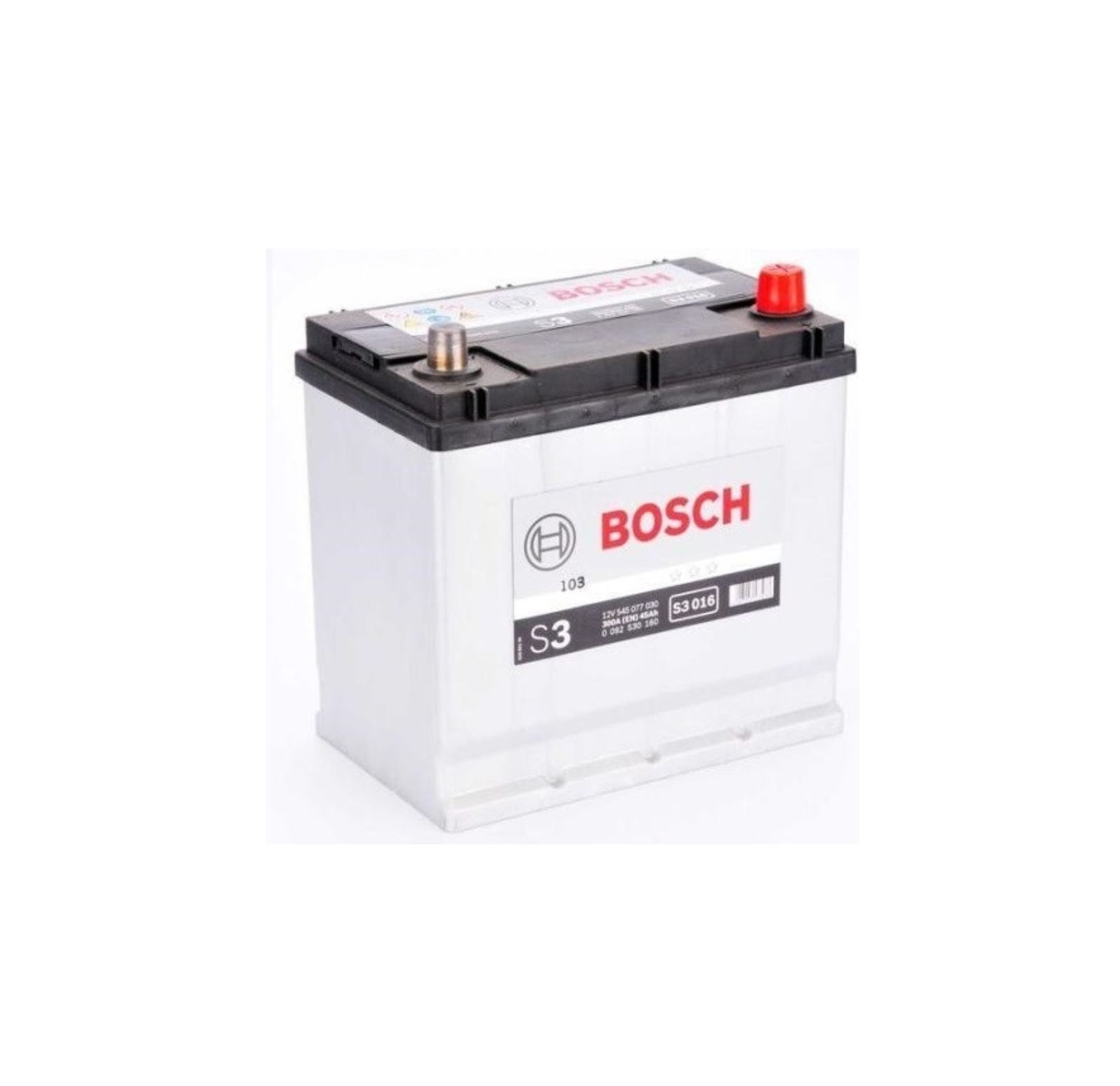 Autobaterie Bosch S3 12V 45Ah 300A