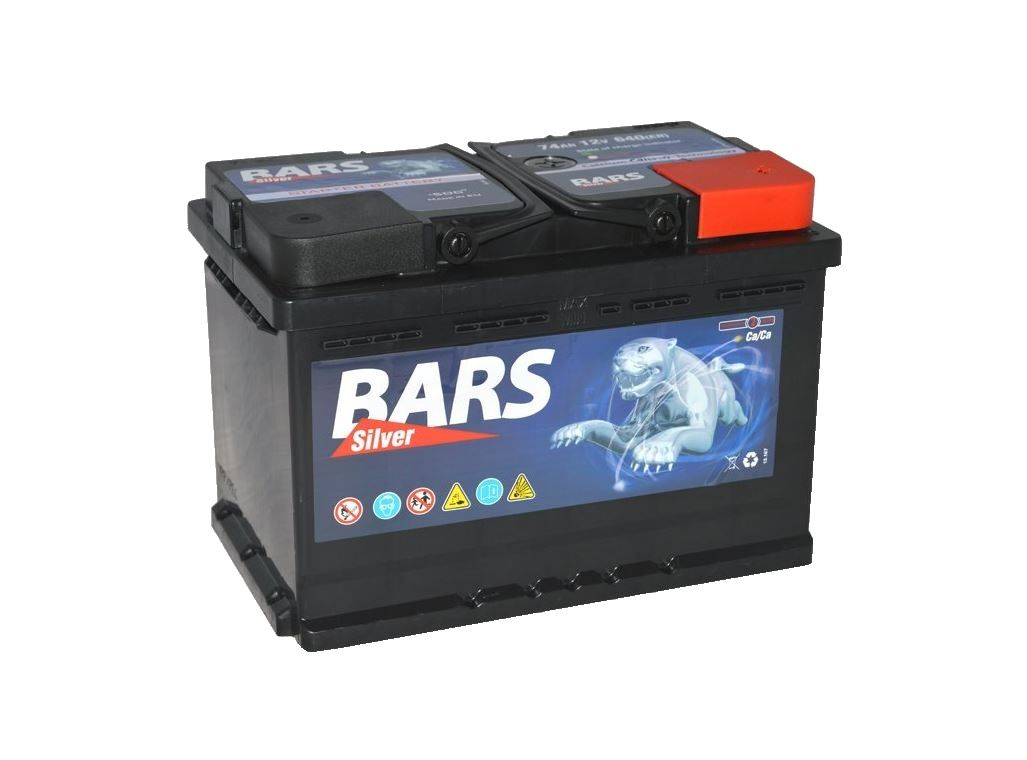 Autobaterie BARS SILVER 12V 74Ah 640A