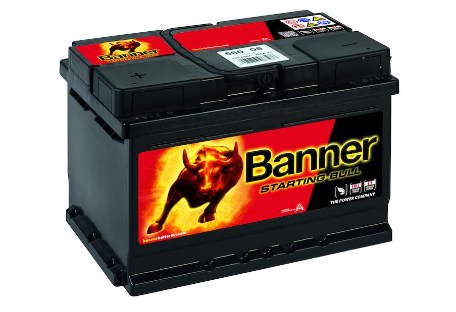 Banner Starting Bull 12V 60Ah 480A - PLUS vlevo