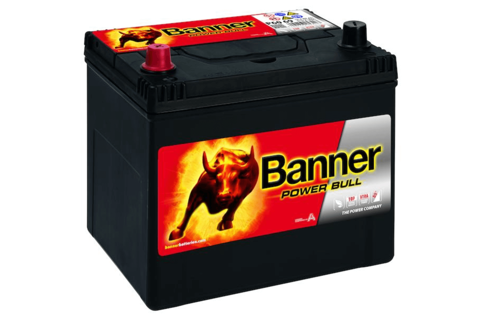 Banner Power Bull 12V 60Ah 480A - plus vlevo