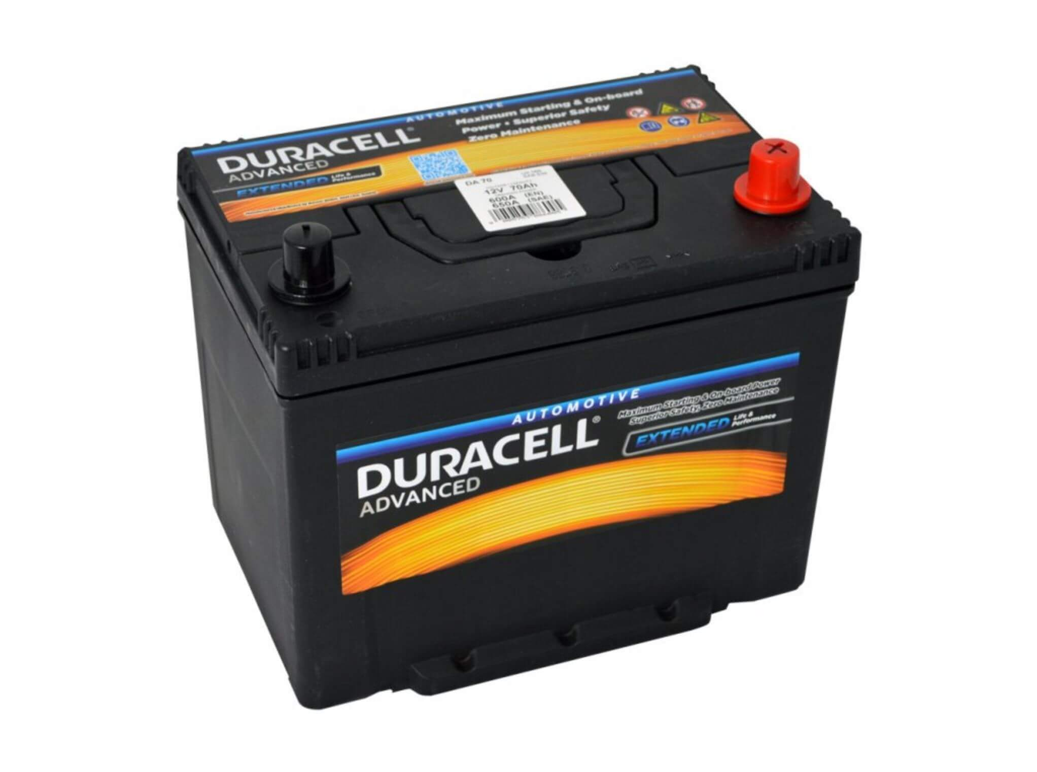 Duracell Advanced 12V 70Ah 600A