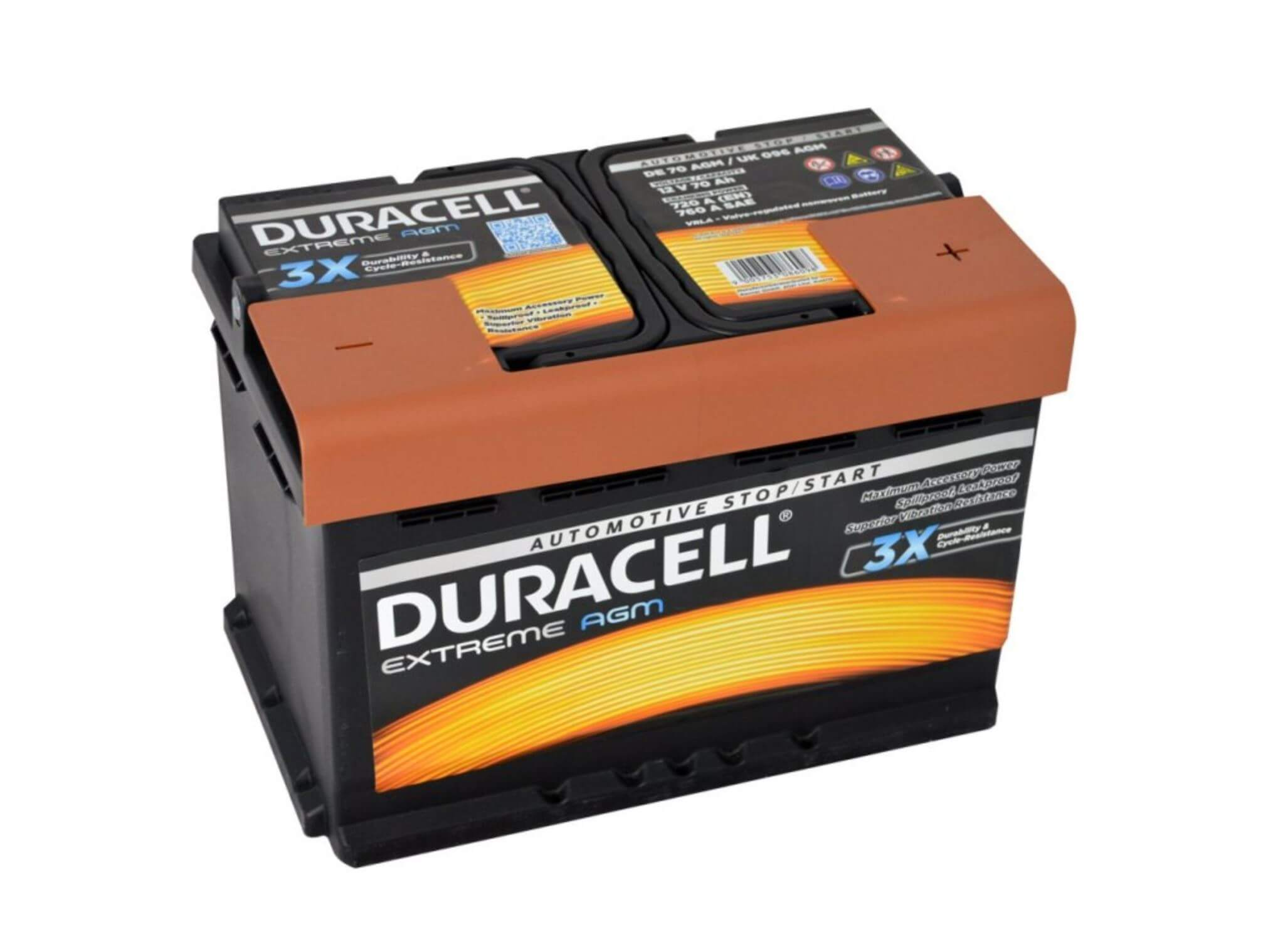 Duracell Extreme AGM 12V 70Ah 720A