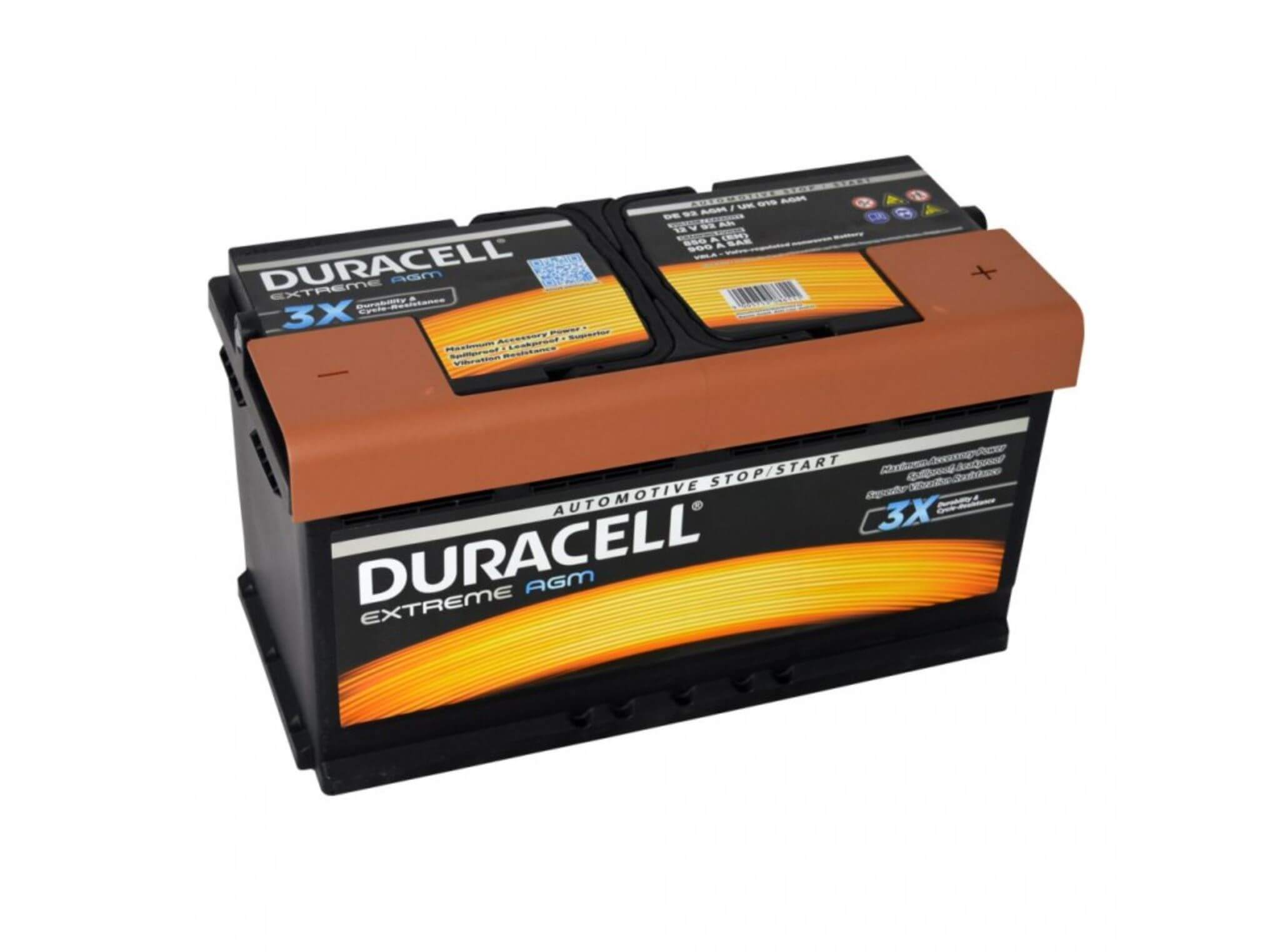 Duracell Extreme AGM 12V 92Ah 850A
