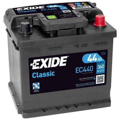Exide Classic 12V 44Ah 360A EC440 (Autobaterie EXIDE Classic)