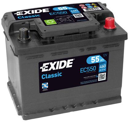 Exide Classic 12V 55Ah 460A EC550 (Autobaterie EXIDE Classic)