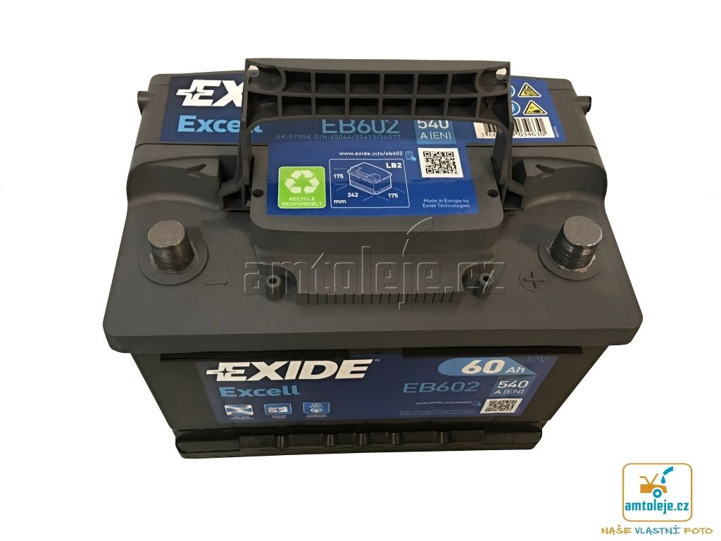 EXIDE Excell 60Ah 540A EB602