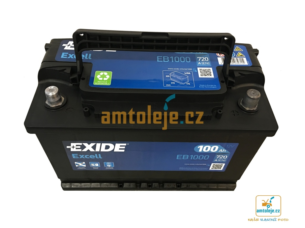 EXIDE Excell 100Ah 720A EB1000