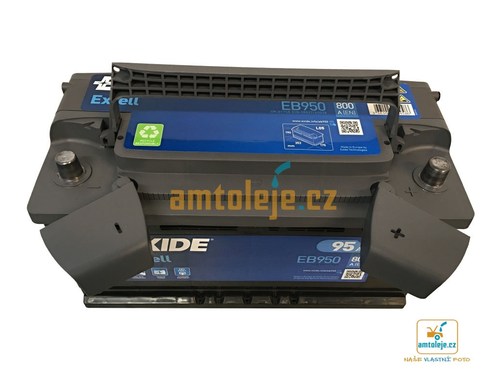 EXIDE Excell 95Ah 800A EB950